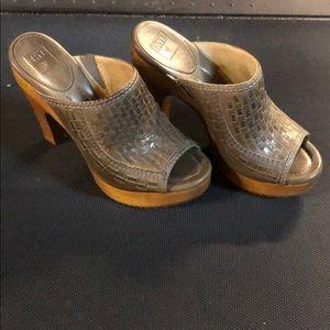 Women's Frye Leather Open Toe Heels - NWOT